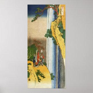 葛飾北斎 Li Po at Waterfall Lo-Shan Hokusai Posters