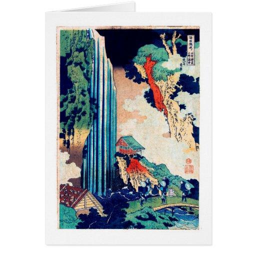 葛飾北斎 Ono Falls, Katsushika Hokusai Note Card