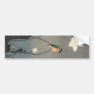 蓮にカワセミ, 古邨 Kingfisher on Lotus, Koson, Ukiyo-e Bumper Sticker