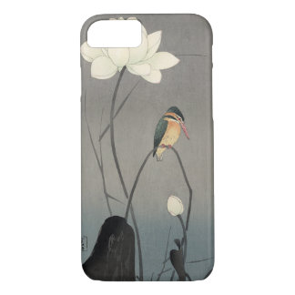 蓮にカワセミ, 古邨 Kingfisher on Lotus, Koson, Ukiyo-e iPhone 8/7 Case