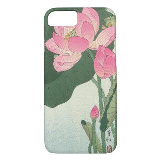 蓮の花, 小原古邨 Lotus flower, Ohara Koson, Ukiyo-e iPhone 8/7 Case