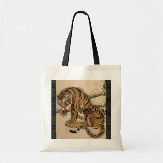 虎図, 若冲 Tiger, Jakuchu Tote Bags