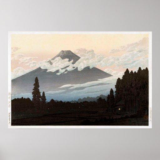 裾野の富士, Mt. Fuji from Susono, Hasui Kawase, Woodcut
