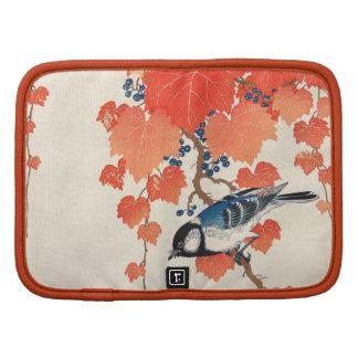 赤い蔦に鳥, 古邨 Bird on Red Ivy, Koson, Ukiyo-e Folio Planner