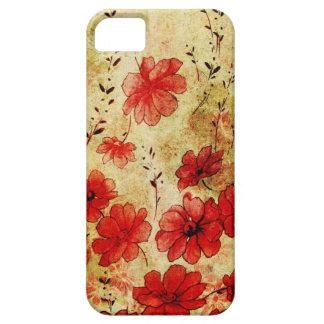 赤くグランジな花のiPhone 5 iPhone 5 Covers