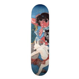 金太郎と動物,国芳 Kintaro & Animals, Kuniyoshi, Ukiyo-e Skateboard Deck