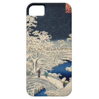 雪の太鼓橋, 広重 Snowy Drum bridge, Hiroshige, Ukiyo-e iPhone 5 Cover