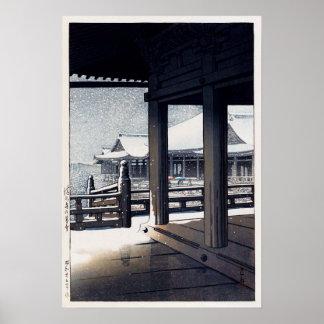 雪の清水寺, Snow at Kiyomizu Temple, Hasui Kawase Poster