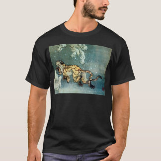 雪中虎図, 北斎 Tiger in the Snow, Hokusai T-Shirt