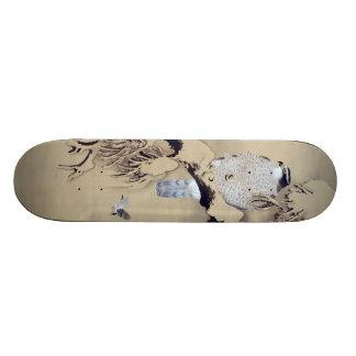 雪中鷹図, 柴田是真 Hawk in the Snow, Shibata Zeshin Skate Board