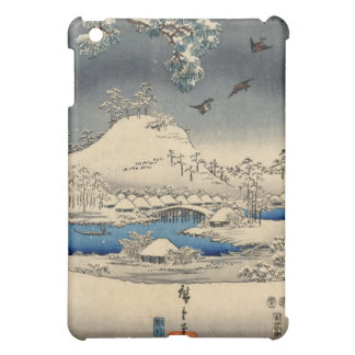 雪景色に雀, 広重 Sparrows in Snow Landscape, Hiroshige iPad Mini Cover
