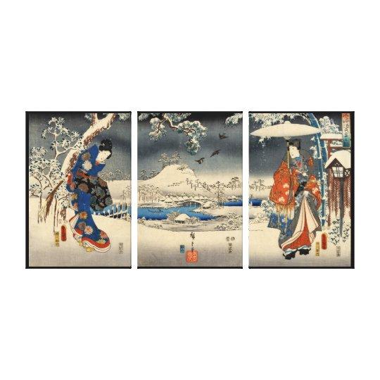 雪景色の恋人, 豊国 Lovers in The Snow Scene, Toyokuni