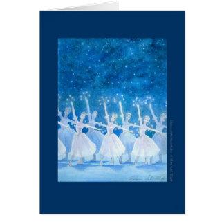 雪 精 踊り バレエグリーティングカード グリーティングカード