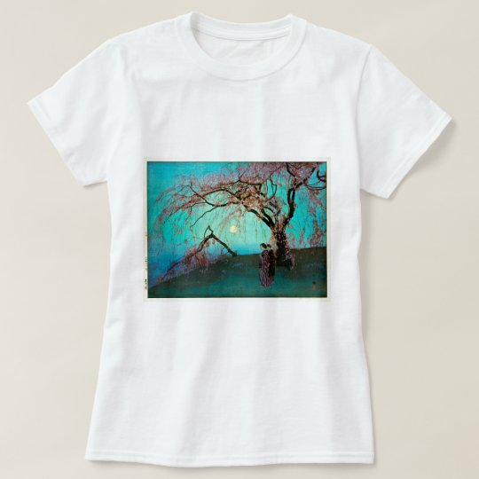 雲井桜, Kumoi Cherry blossoms, Yoshida, Woodcut T-Shirt