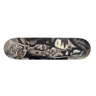 雲龍図, 曾我蕭白 Dragon with Cloud, Sumi-e 20.6 Cm Skateboard Deck