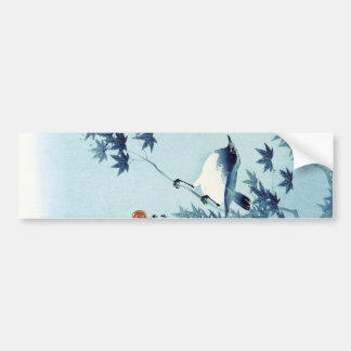 青い鳥, 古邨 Bird in Blue, Koson, Ukiyo-e Bumper Sticker