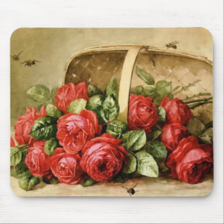 静物、蜂と薔薇 マウスパッド