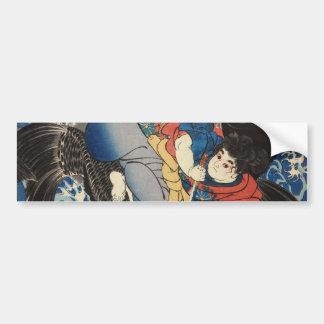 鬼若丸, 国芳, Oniwakamaru, Kuniyoshi, Ukiyo-e Bumper Sticker