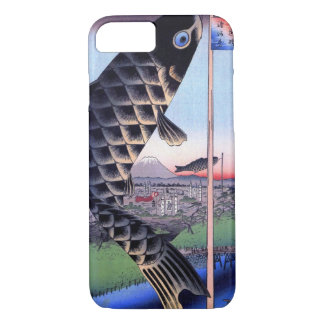 鯉幟と富士山, 広重 Carp Streamer and Mount Fuji, Hiroshige iPhone 7 Case