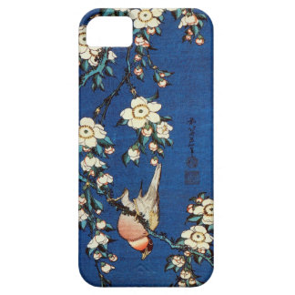 鳥と枝垂桜, 北斎 Bird and Weeping Cherry Tree, Hokusai iPhone 5 Cover