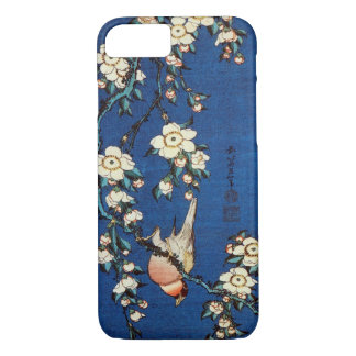 鳥と枝垂桜, 北斎 Bird and Weeping Cherry Tree, Hokusai iPhone 8/7 Case