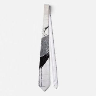 鶴図, 若冲  Crane, Jakuchu, Japan Art Tie