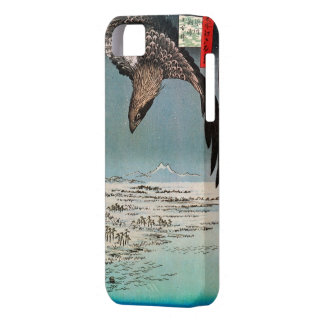 鷲と雪景色, 広重 Eagle and Snow Scene, Hiroshima, Ukiyoe iPhone 5 Cover