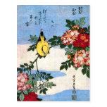 黄鳥長春 Nightingale 葛飾北斎 Hokusai