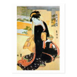 黒い着物の女, 豊国 Woman of Black Kimono, Toyokuni Postcards
