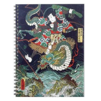 龍虎, 豊国 Dragon & Tiger, Toyokuni, Ukiyo-e Notebook