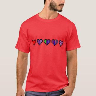 0001 <3 Left 8-bit T-Shirt
