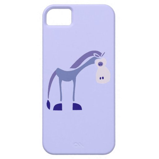 0001 gifhorse PURPLE CARTOON HORSE FUNNY GRAPHIC K iPhone 5 Cases