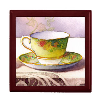 0001 Teacup on Lace Gift Box