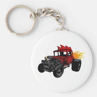 00073 Hot Rod Basic Round Button Key Ring