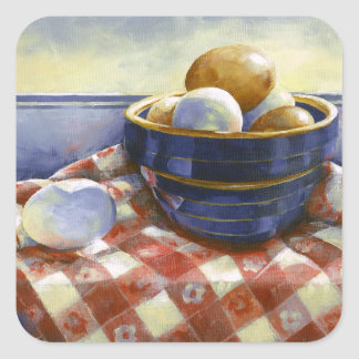 0008 Eggs in Blue Bowl Stickers