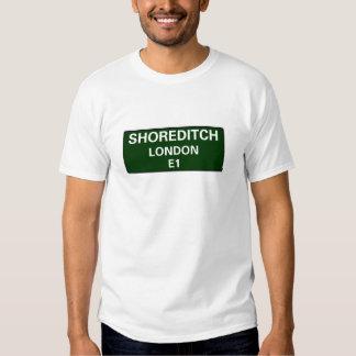 000 STREET SIGNS - LONDON - SHOREDITCH E1 T SHIRT