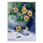 0011 Pansies in Planter Sympathy Card