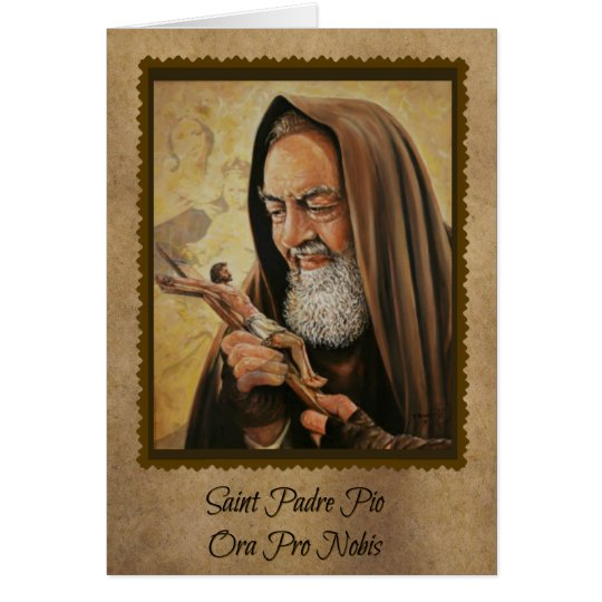 0016 St. Padre Pio Greeting Card w/quotes