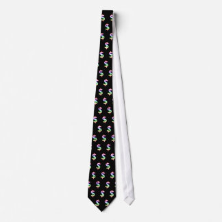 (001:14) Colorful Glowing Dollars - Black Tie