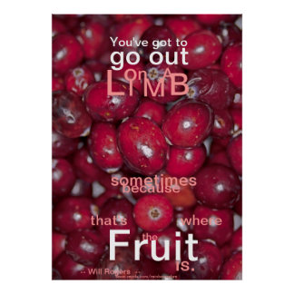 001-32zrz Youve Got to Go Out Fruit Poster
