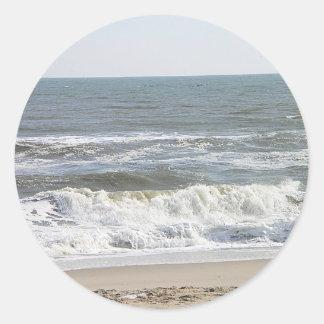 001 LBI waves Round Sticker