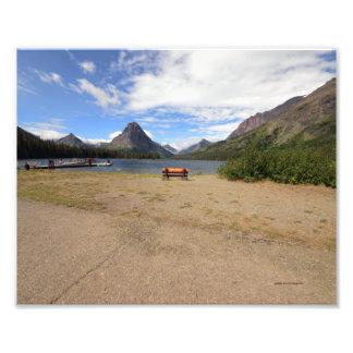 0037 8/12  Two Medicine Lake in Glacier park. Photo Art