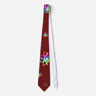 (003:12) Colorful Glowing Atoms - Dark Red Tie