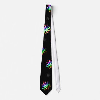 (003:13s) Colorful Glowing Atoms - Dark Blue Tie