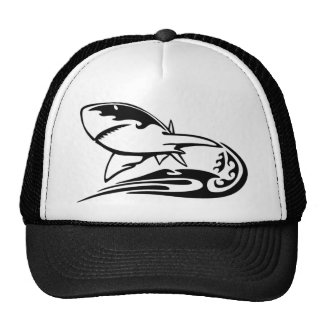 0041b_flamboyant_animals GREAT WHITE SHARK SEALIFE Trucker Hats