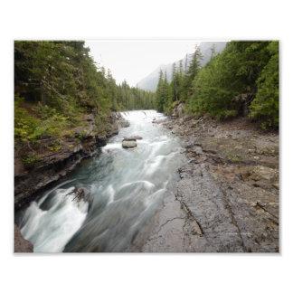 0044 8/12 Mc Donald falls Glacier park Art Photo