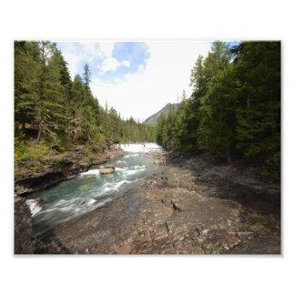 0051 8/12 McDonald falls in Glacier National Park. Photograph