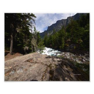 0058 8/12 McDonald falls in Glacier national Park Photograph