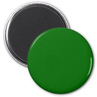 #006600 Green Solid Color 6 Cm Round Magnet