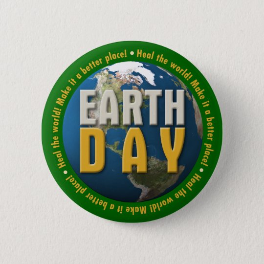 (007:01) Earth Day: Heal the world! - Button